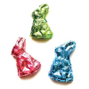 Set of Foil Covered Chocolate Bunnies