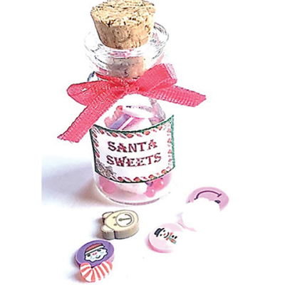 Christmas Santa Sweets Candy in Glass Jar