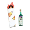 Halloween Wine Bottle Witch Shoes Label in Gift Bag