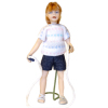 Artisan Crafted Dollhouse Doll Girl Bonnie with Jump Rope