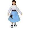 Artisan Crafted Porcelain Doll Teenage Girl in Poodle Skirt