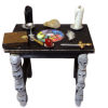 Halloween Magic Pentacle Altar Table with Skull Legs