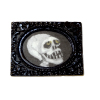 Framed Spooky Skeleton Skull Picture