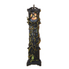 Spooky Halloween Grandfather Clock with Bats and Skull