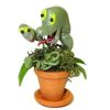 Handcrafted Haunted Halloween Man Eating Plant