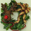 Handcrafted Rudolph Christmas Wreath