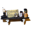 Halloween Fortune Teller Shelf Crystal Ball and Potions