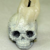 Spooky Halloween Skull with Candle