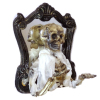 Handcrafted Halloween Skeleton Ghost Coming out of Mirror