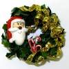 Handcrafted Santa Christmas Wreath
