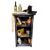 Halloween Magic Haunted Witch Wizard Bookcase or Hutch