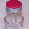 Red Retro Vintage 1950's Style Diner Counter Stool