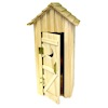 Single Seater Rustic Wood Outhouse