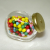 Real Glass Jar Filled with Candy