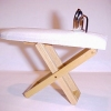 Padded Working Oak Ironing Board with Iron