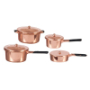 Copper Metal Cooking Pot Set