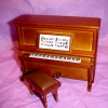 Spinet Upright Piano with Cushioned Bench