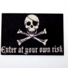 Halloween or Pirate Skull Crossbones Welcome Mat Doormat