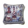 Handcrafted Lighthouse Pillow with Piping