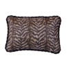 Handcrafted Exotic Zebra Print Pillow with Piping