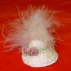 Handcrafted Wearable Ladies Hat With Pink Feathers