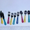 12 Piece Multicolor Silverware Flatware Set