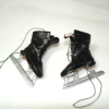 Dolls Cobbler Hand Crafted Real Leather Men's Black Ice Skates