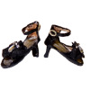 Dolls Cobbler Ankle Strap Open Toe Heels