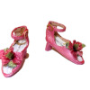 Doll Cobbler Fancy Ankle Strap Heels -Pink