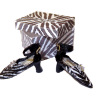 Doll Cobbler Zebra Stripe Ankle Strap Heels with Shoebox