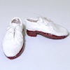 Dolls Cobbler Handcrafted 1950s Style Mens Shoes White Bucks