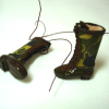 Dolls Cobbler Hand Crafted Camouflage Hunting Boots with Box