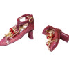Doll Cobbler Fancy Ankle Strap Heels - Berry