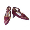 Doll Cobbler Fancy Ankle Strap Heels - Deep Purple