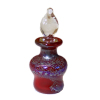 Dieter Dorsch Purple Blown Glass Decanter Potion Bottle