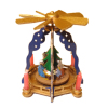 Wood Carousel Nativity Windmill Pyramid Christmas Decoration
