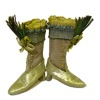 Doll Cobbler Fancy Golden Victorian High Button Boots