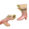 Doll Cobbler Pink Victorian High Button Boots