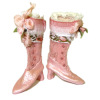 Doll Cobbler Pink Victorian High Top Boots and Shoebox