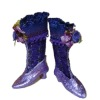 Doll Cobbler Purple Victorian High Button Boots and Box