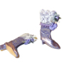 Doll Cobbler Purple Victorian High Top Boots