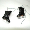 Dolls Cobbler Real Leather Boy's Black Ice Skates and Box