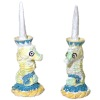 Lighthouse Captains Galley Seahorse Candlestick Set