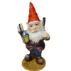 Large Garden Gnome With Lantern and Axe