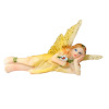 Tiny Fairy in Yellow with Flower and Glittery Wings