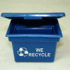 Opening Blue Recycling Bin