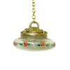 Artisan Crafted Working Chandelier with Handpainted Glass Globe