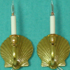Artisan Lighting Brass Scallop Shell Candle Wall Sconces