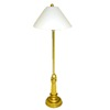 Artisan Crafted Working Antiqued Brass Floor Lamp