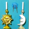 Artisan Crafted Working Sun And Moon Electric Candlesticks